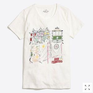 J. Crew factory San Francisco t-shirt XXS